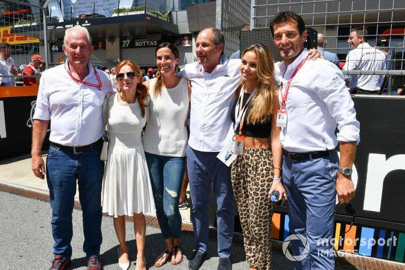 Консультант Red Bull Racing Гельмут Марко, Герхард Бергер, Марк Веббер