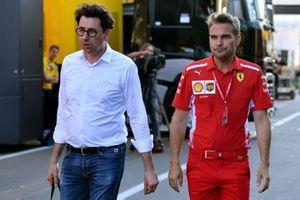 Mattia Binotto, team principal at Ferrari leaves the track