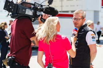 Andreas Seidl, Team Principal, McLaren, is interviewed