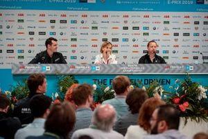 Jay Penske, Team Owner, Dragon Racing, Susie Wolff, Team Principal, Venturi Formula E, GŽrry Hughes, Team Principal NIO Formula E Team in the team principals press conference