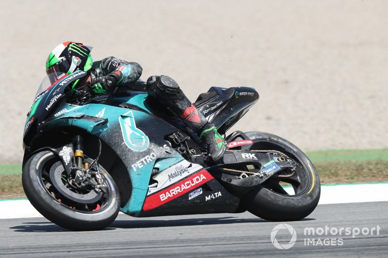 Franco Morbidelli, Petronas Yamaha SRT, dopo la caduta