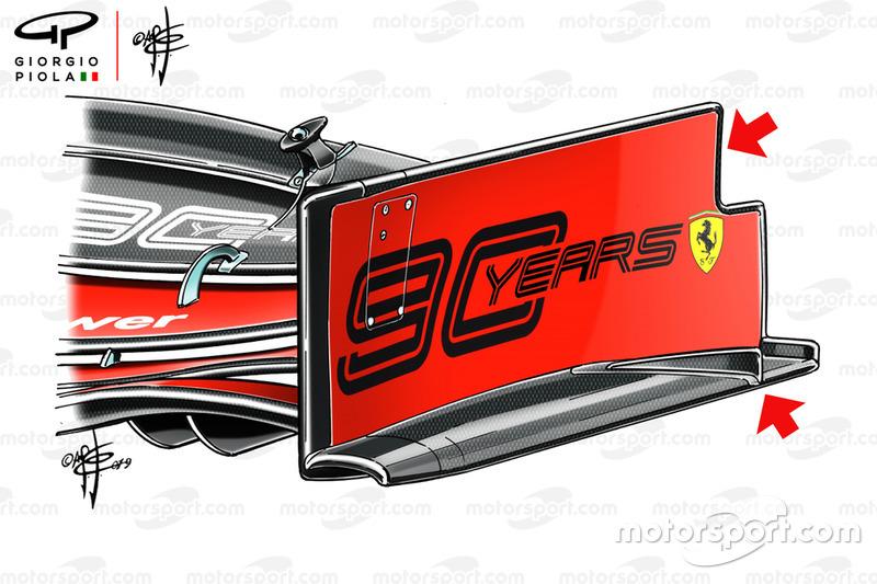 Ferrari SF90, dettaglio della paratia dell'ala anteriore