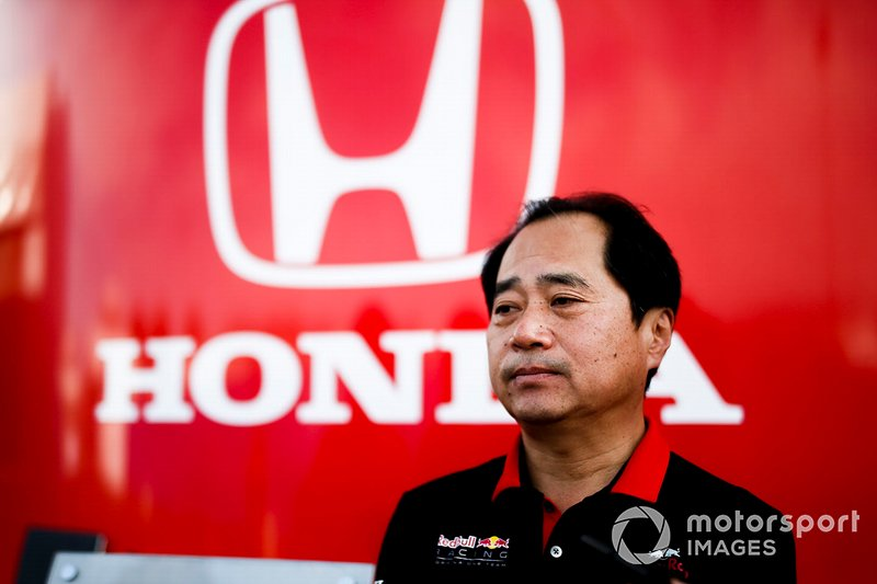 Toyoharu Tanabe, Direttore Tecnico F1, Honda, parla con i media