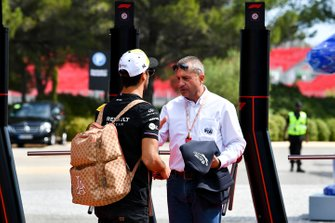 Daniel Ricciardo, Renault F1 Team et Yannick Dalmas