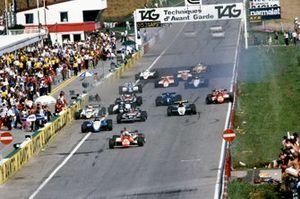 Startcrash beim GP Österreich 1982 auf dem Österreichring in Zeltweg