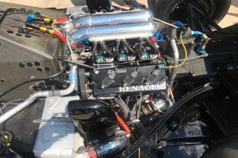 Detalle del motor Renault del Lotus 97T de Ayrton Senna