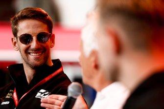 Romain Grosjean, Haas F1 on stage on the fan zone