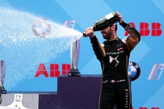 Jean-Eric Vergne, DS TECHEETAH, 3rd position, celebrates on the podium