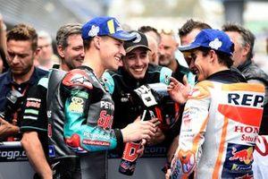 Polesitter Fabio Quartararo, Petronas Yamaha SRT, third place Marc Marquez, Repsol Honda Team