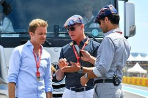 Nico Rosberg, David Coulthard and Mark Webber