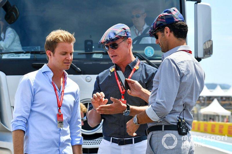 Nico Rosberg, David Coulthard and Mark Webber