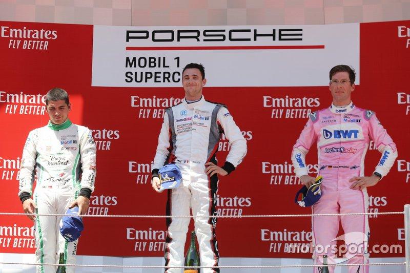 Podio: Il vincitore della gara Julien Andlauer, BWT Lechner Racing, secondo posto Ayhancan Güven, martinet di ALMERAS, terzo posto Michael Ammermüller, BWT Lechner Racing