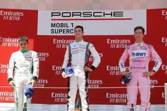 Podio: il vincitore della gara Julien Andlauer, BWT Lechner Racing, il secondo classificato Ayhancan Güven, martinet by ALMERAS, il terzo classificato Michael Ammermüller, BWT Lechner Racing