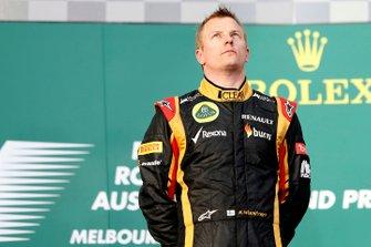 Podio: il vincitore della gara Kimi Raikkonen, Lotus
