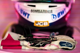 The gloves of Sergio Perez, Racing Point