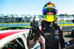 Race winner Dylan O'Keeffe, Ashley Seward Motorsport Alfa Romeo Giulietta