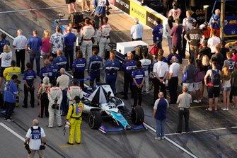 Takuma Sato, Rahal Letterman Lanigan Racing Honda, grid