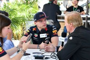 Max Verstappen, Red Bull Racing speaks to the press