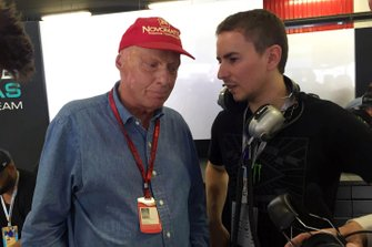 Niki Lauda with Jorge Lorenzo