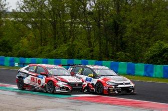 Attila Tassi, KCMG Honda Civic Type R TCR, Rob Huff, SLR VW Motorsport Volkswagen Golf GTI TCR