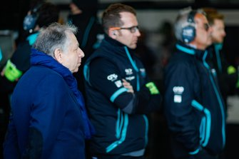 Jean Todt, FIA President, in the Jaguar garage