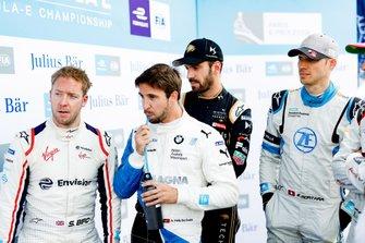 Sam Bird, Envision Virgin Racing, Antonio Felix da Costa, BMW I Andretti Motorsports, Jean-Eric Vergne, DS TECHEETAH, Edoardo Mortara Venturi Formula E