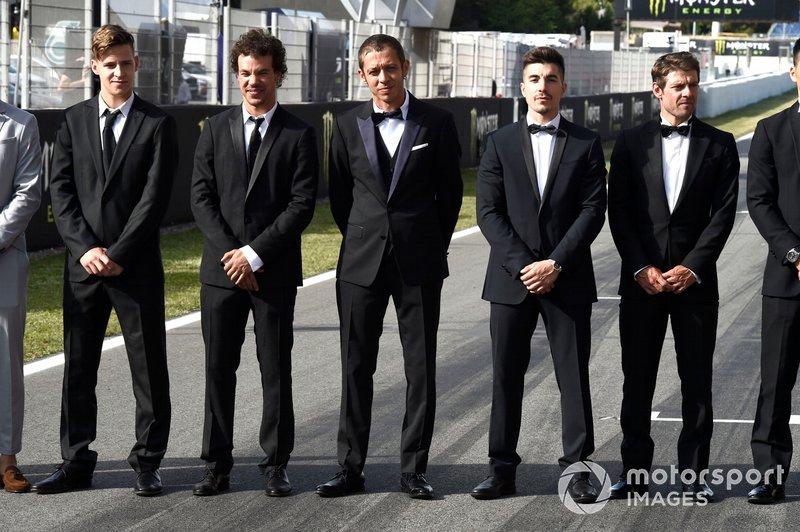 Fabio Quartararo, Petronas Yamaha SRT, Franco Morbidelli, Petronas Yamaha SRT, Valentino Rossi, Yamaha Factory Racing, Maverick Vinales, Yamaha Factory Racing