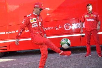 Antonio Fuoco, Ferrari play football in the paddock