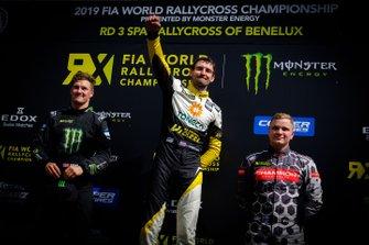 Подиум: победитель Тимур Тимерзянов, GRX Taneco Team, второе место – Андреас Баккеруд, Monster Energy RX Cartel, третье место – Йони Виман, GRX Taneco Team