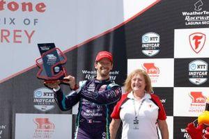 Romain Grosjean, Dale Coyne Racing with RWR Honda, podium