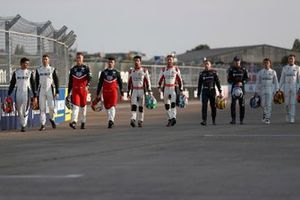 Drivers on the start grid