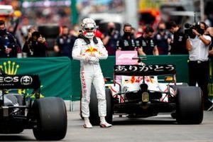 Max Verstappen, Red Bull Racing, en el Parc Ferme tras la clasificación