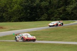 #9: PFAFF Motorsports Porsche 911 GT3R, GTD: Zacharie Robichon, Laurens Vanthoor, #1: Paul Miller Racing Lamborghini Huracan GT3, GTD: Madison Snow, Bryan Sellers