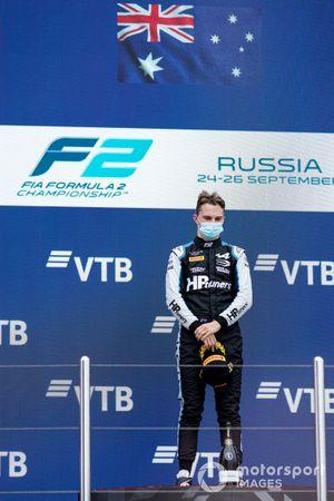 Podio: El ganador de la carrera Oscar Piastri, Prema Racing
