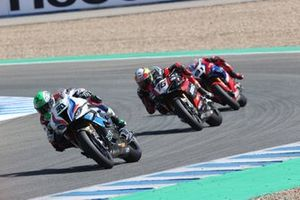 Eugene Laverty, BMW Motorrad WorldSBK Team et Samuele Cavalieri, TPR Team Pedercini Racing