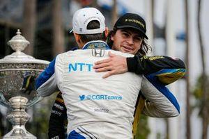 Alex Palou, Chip Ganassi Racing Honda wins the NTT IndyCar Series Championship, Colton Herta, Andretti Autosport w/ Curb-Agajanian Honda