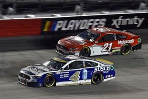 Kevin Harvick, Stewart-Haas Racing, Ford Mustang Busch Light Fan Design and Matt DiBenedetto, Wood Brothers Racing, Ford Mustang Motorcraft/Quick Lane