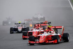 Arthur Leclerc, Prema Racing, Dennis Hauger, Prema Racing, and Roman Stanek, Hitech Grand Prix
