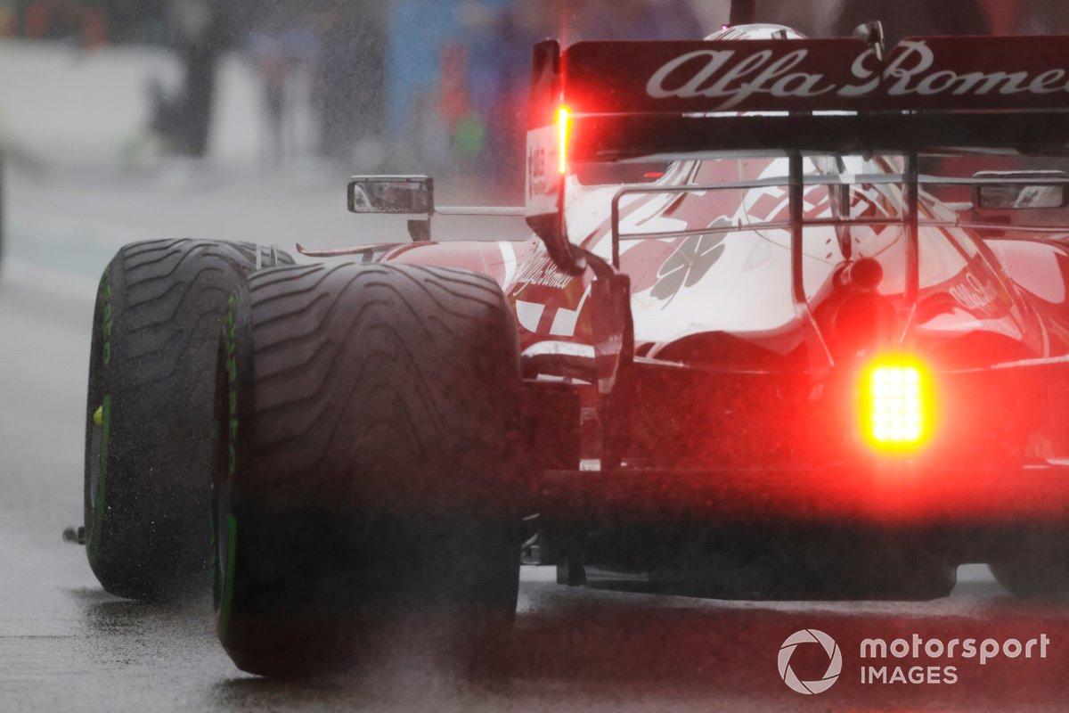Antonio Giovinazzi, Alfa Romeo Racing C41 sulla griglia di partenza