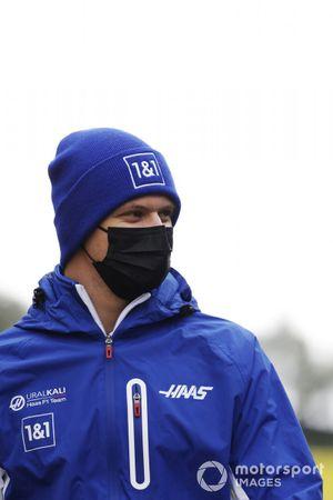 Mick Schumacher, Haas F1, walks the track