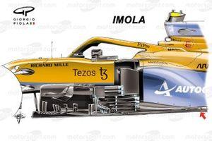 McLaren MCL35M new bargeboard: Imola