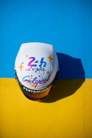 #28 JOTA Oreca 07 - Gibson LMP2, Sean Gelael, casco speciale