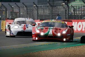 #51 AF Corse Ferrari 488 GTE EVO LMGTE Pro, Alessandro Pier Guidi, James Calado, Come Ledogar, #79 Weathertech Racing Porsche 911 RSR - 19 LMGTE Pro, Cooper MacNeil, Earl Bamber, Laurens Vanthoor