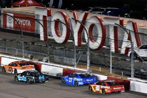 Bubba Wallace, 23XI Racing, Toyota Camry Door Dash and Corey LaJoie, Spire Motorsports, Chevrolet Camaro Shavelogic