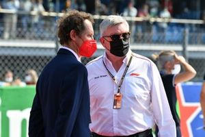 Ross Brawn, Managing Director of Motorsports, on the grid
