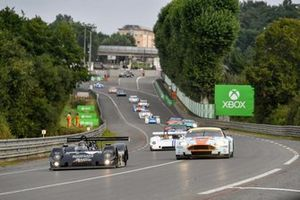 #14 Riley & Scott MK III C: Xavier Micheron, #8 Aston Martin DBR9: Roald Goethe, Stuart Hall