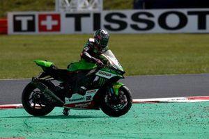 Alex Lowes, Kawasaki Racing Team WorldSBK after the crash