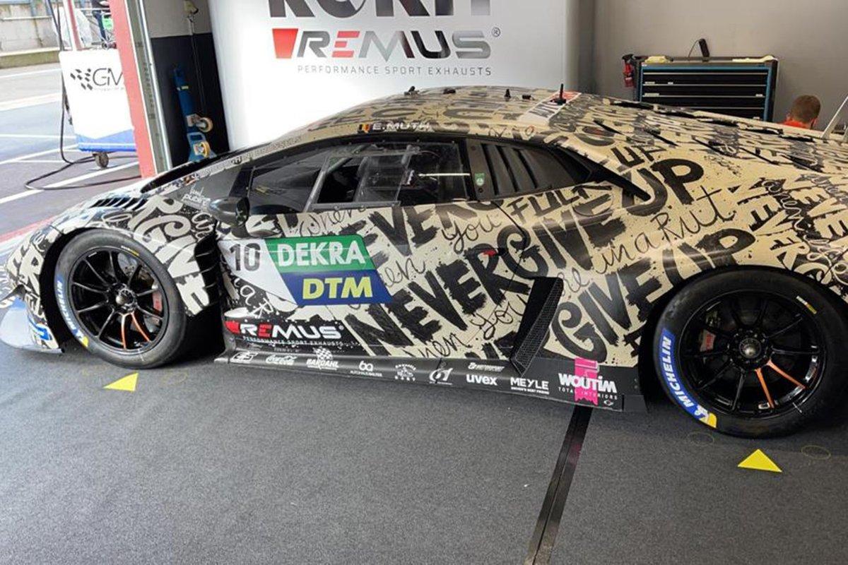 Car of Esteban Muth, T3-Motorsport Lamborghini Huracan Evo GT3