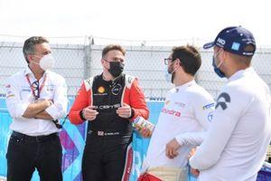Alejandro Agag, Président Formula E, Oliver Rowland, Nissan e.Dams, Alexander Sims, Mahindra Racing, Tom Blomqvist, NIO 333