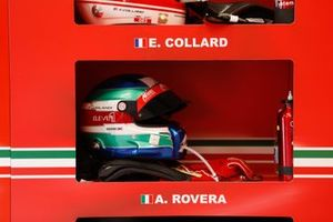 #88 Af Corse Ferrari 488 GTE EVO LMGTE, Alessio Rovera, helmet